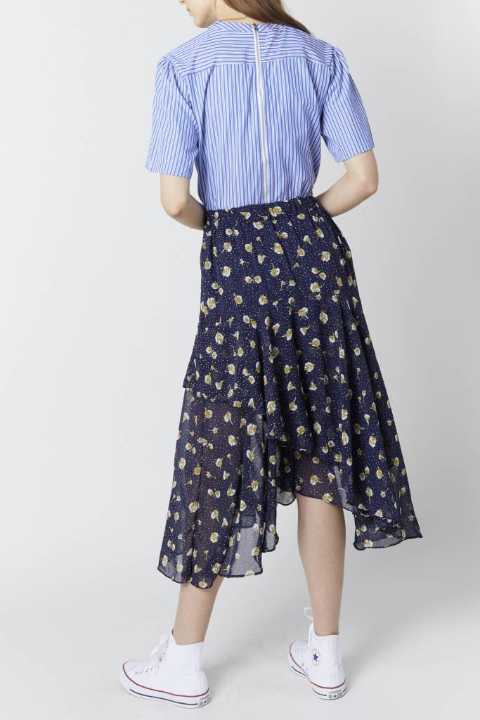 Erica Floral Dot Navy Skirt
