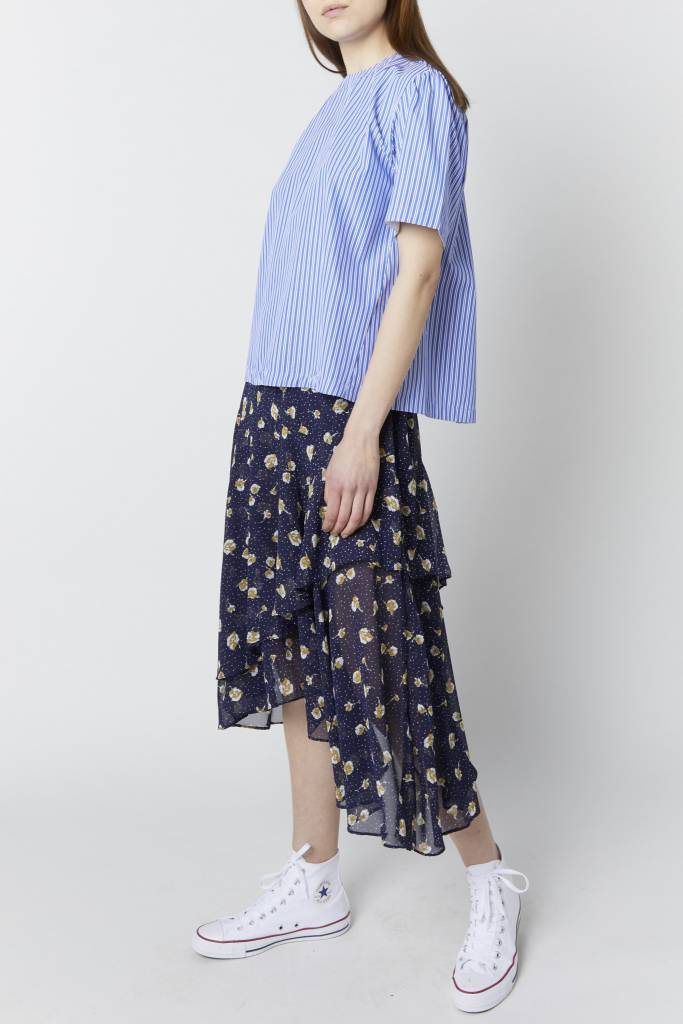 Erica Floral Dot Navy Skirt