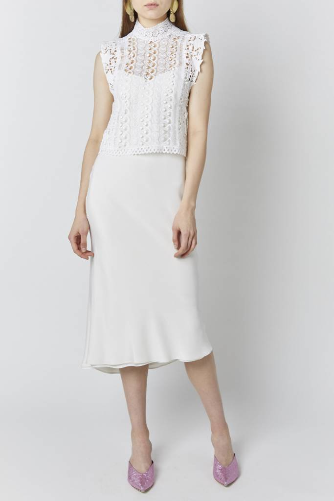 FAV Jane Embroidered White Vest