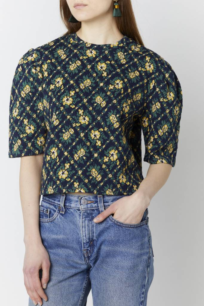Doreen Eva Cropped Print Top