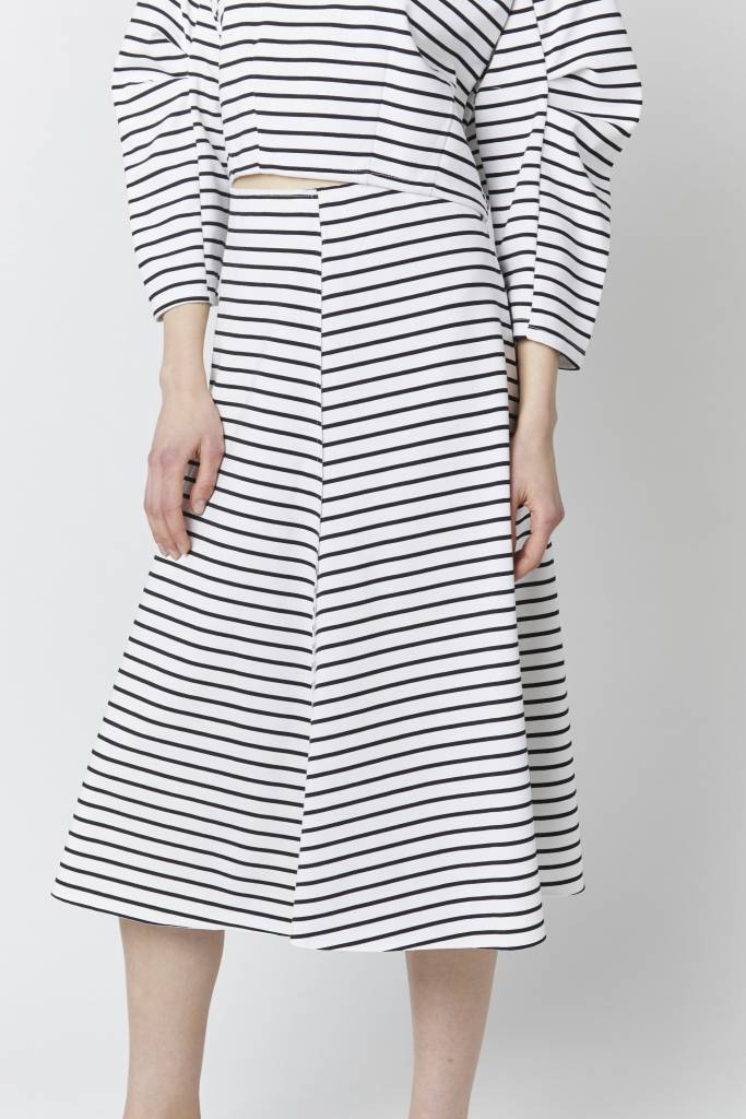 Doreen Striped Midi Skirt