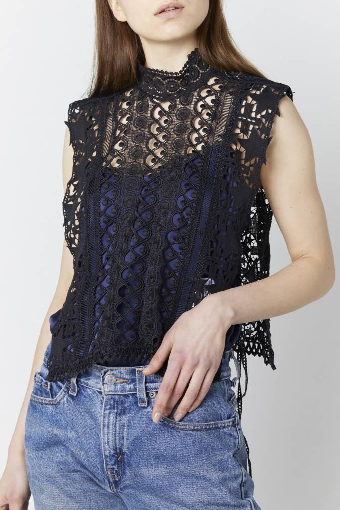 FAV Jane Embroidered Black Vest