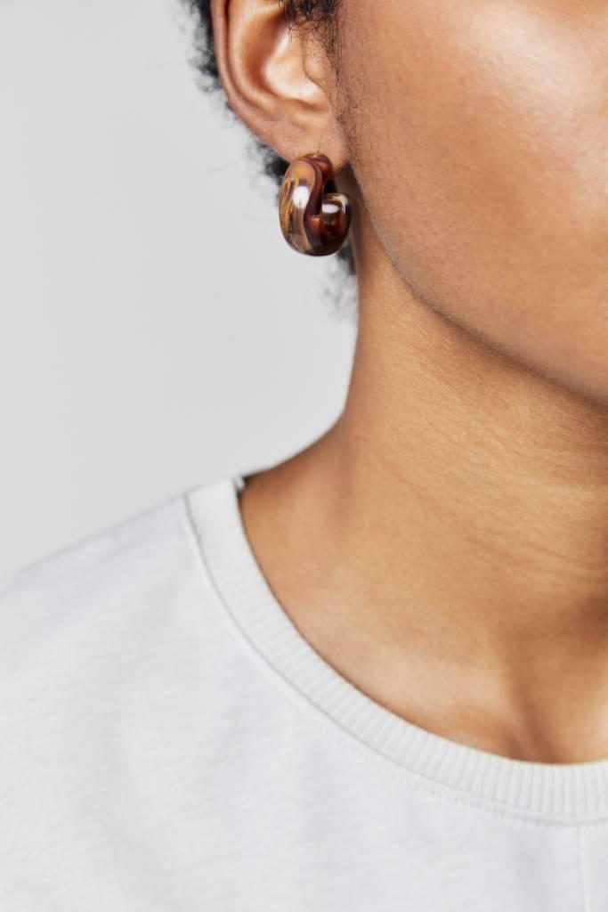 NYU.NYU Amber  Small Hoop Earrings
