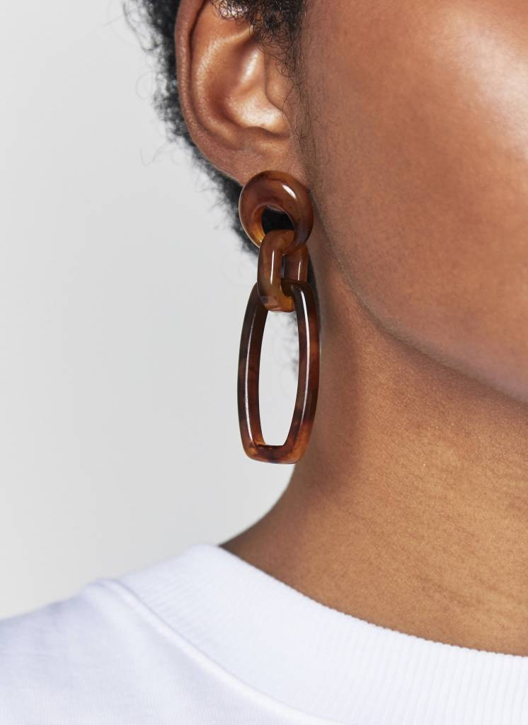 NYU.NYU Amber Hoop Earrings