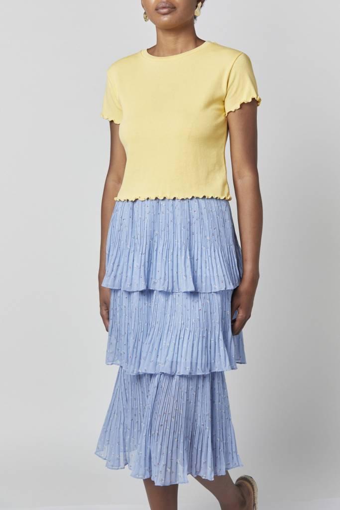 Erica Anna Ruffled Blue Skirt