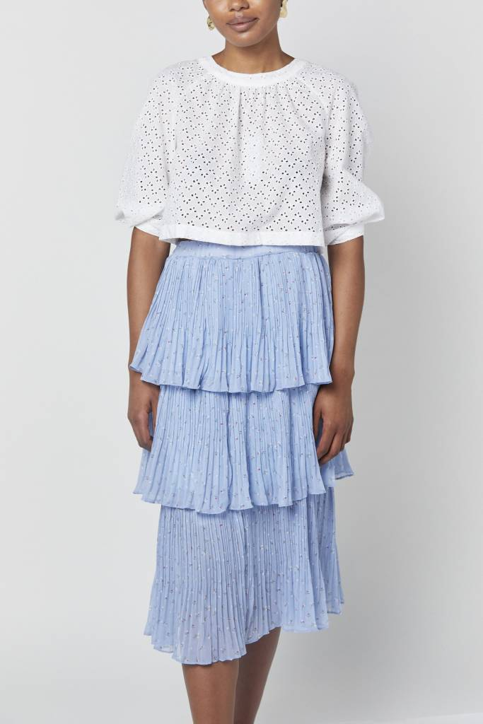 Erica Anna Ruffled Blue Skirt