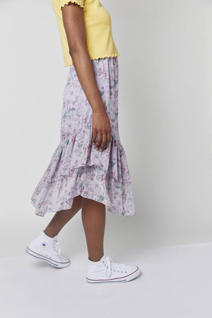 Erica Asymmetrical Printed Skirt