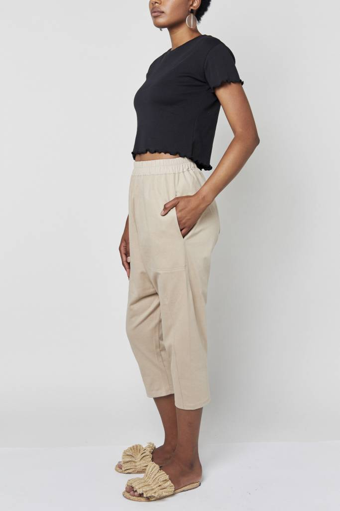 Vegas Beige Relaxed Pant