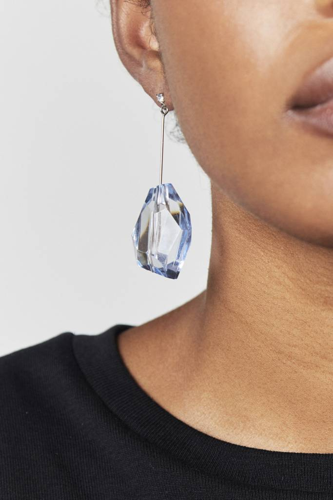 NYU.NYU Crystal Blue Earrings