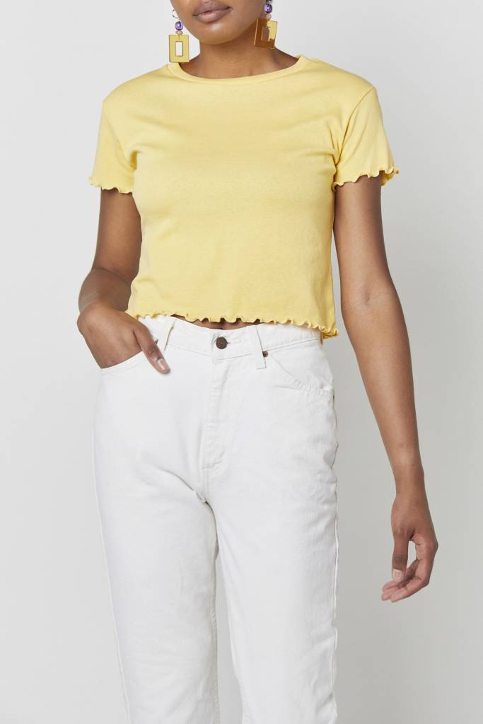 Coline Cropped Yellow Top