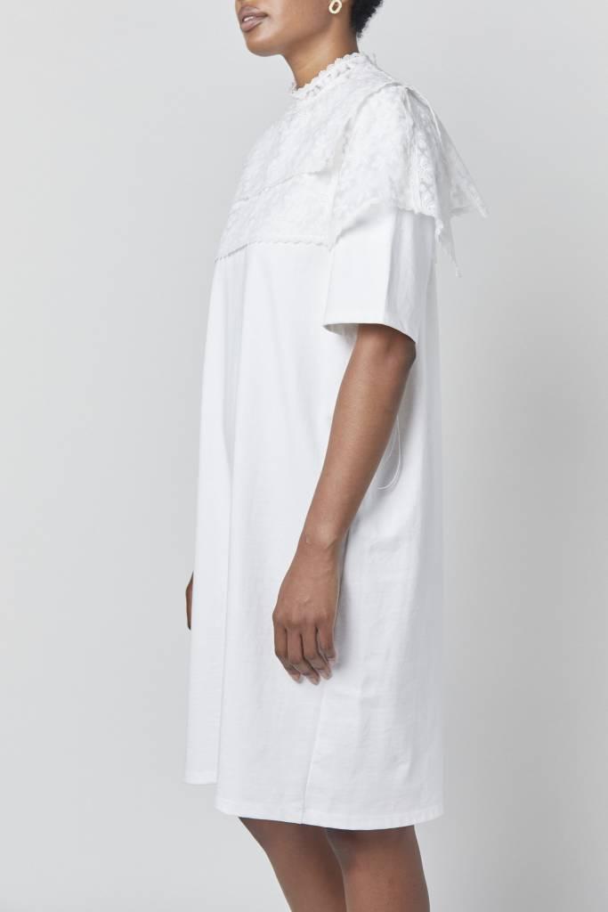 Vegas Embellished White T-Shirt Dress