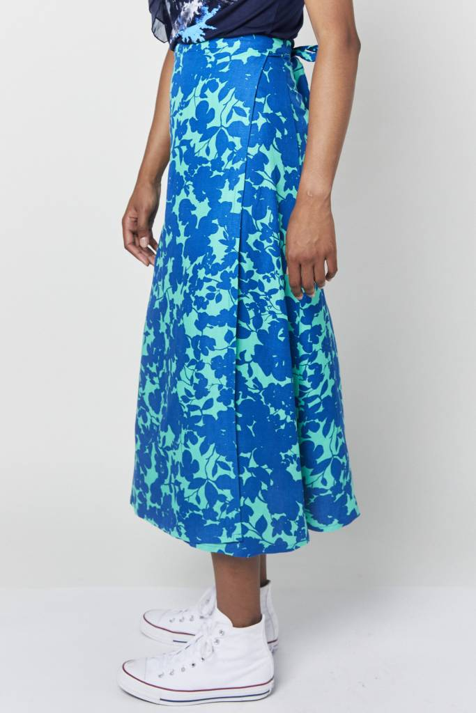 Erica Leandra Green Wrap Skirt
