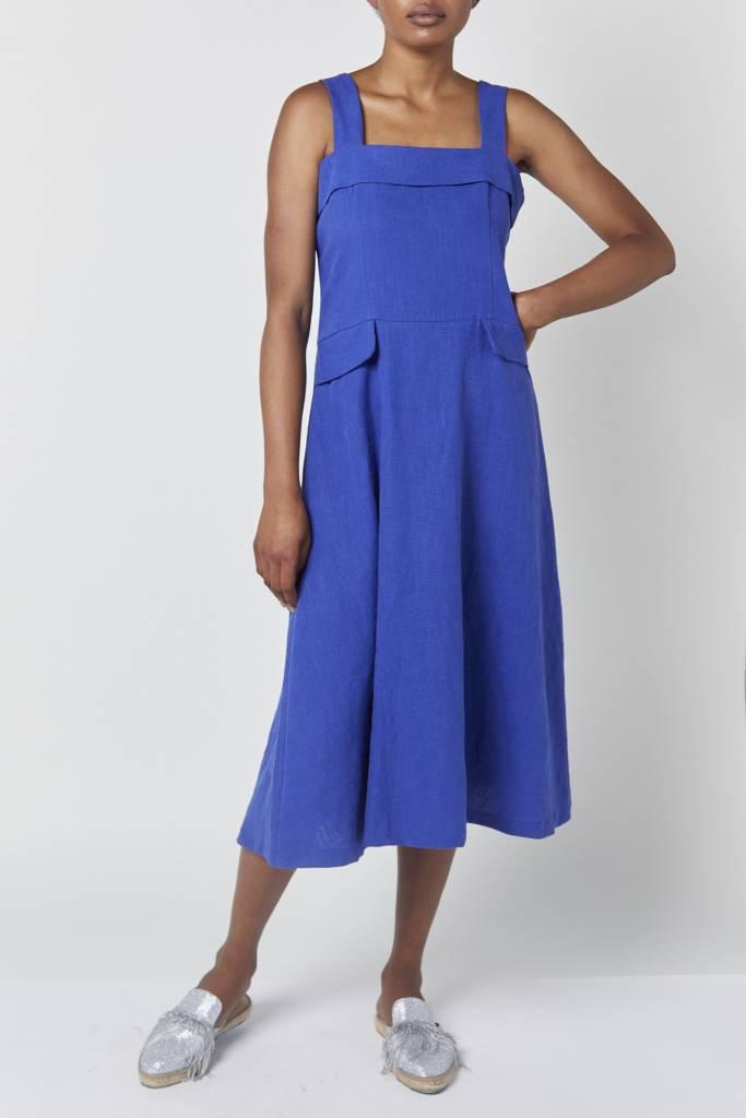 Coline Strap Blue linen Dress