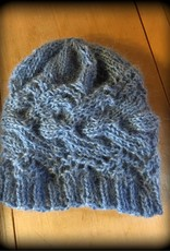 Hand Knit Alpaca/Mohair Cable Cloche