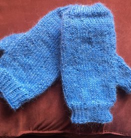 Hand Knit Alpaca/Mohair Fingerless Mitts