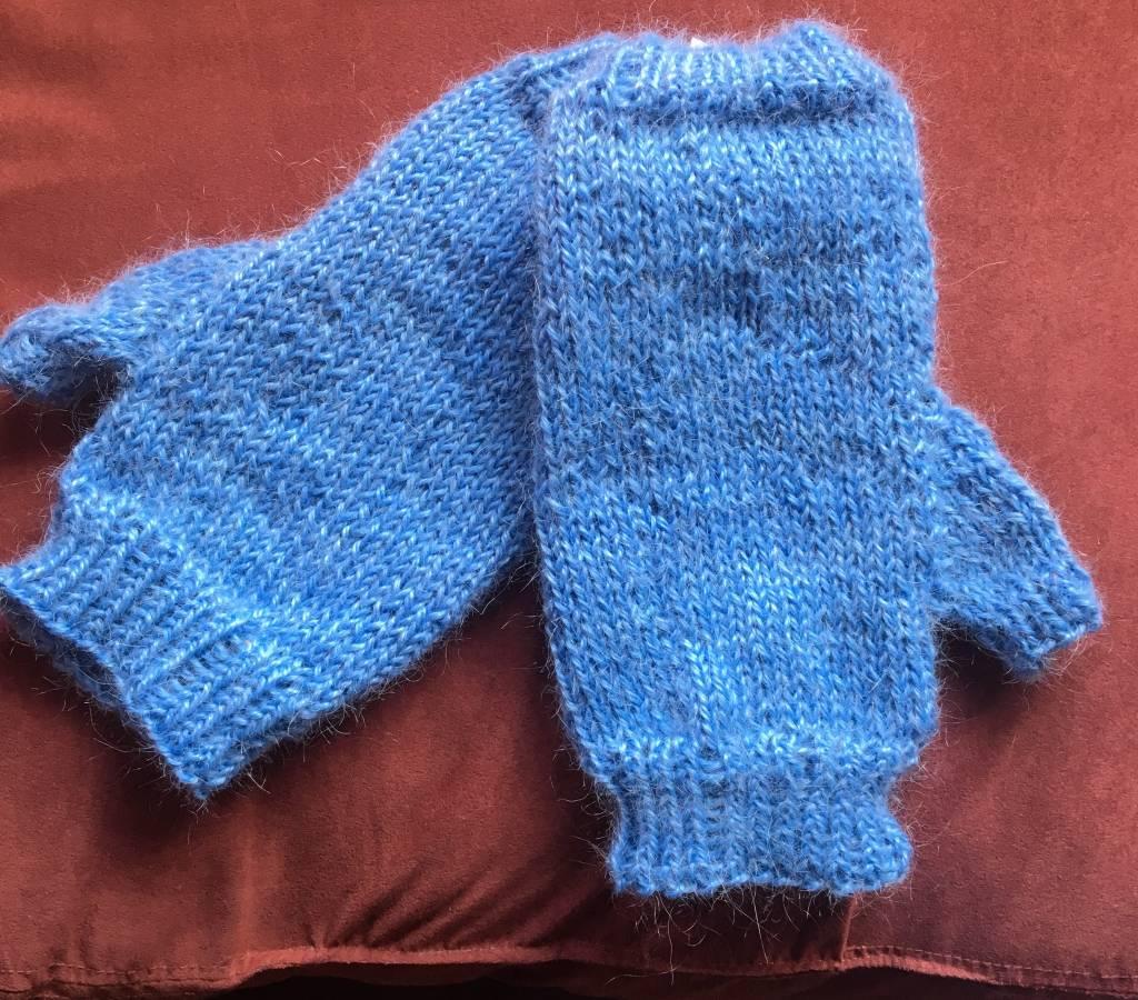 Hand Knit Alpaca/Mohair Fingerless Mitts