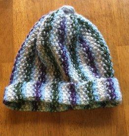 Stripe Hat Handknit RLH17