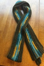 Hand crochetted rib scarf