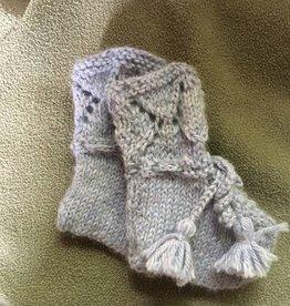 Hand Knit booties 100%  alpaca