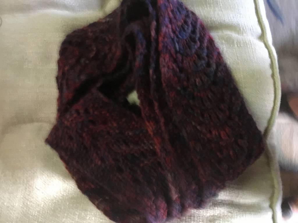 Hand Knit Skinny Scarf