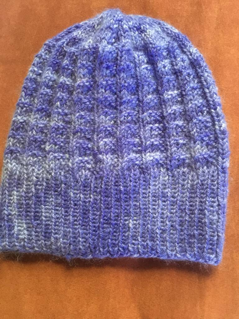 Hand Knit Ribbed & Dyed Hat