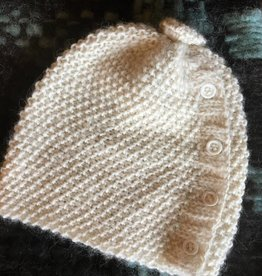 Hand Knit Youth Hat w/buttons RLH22