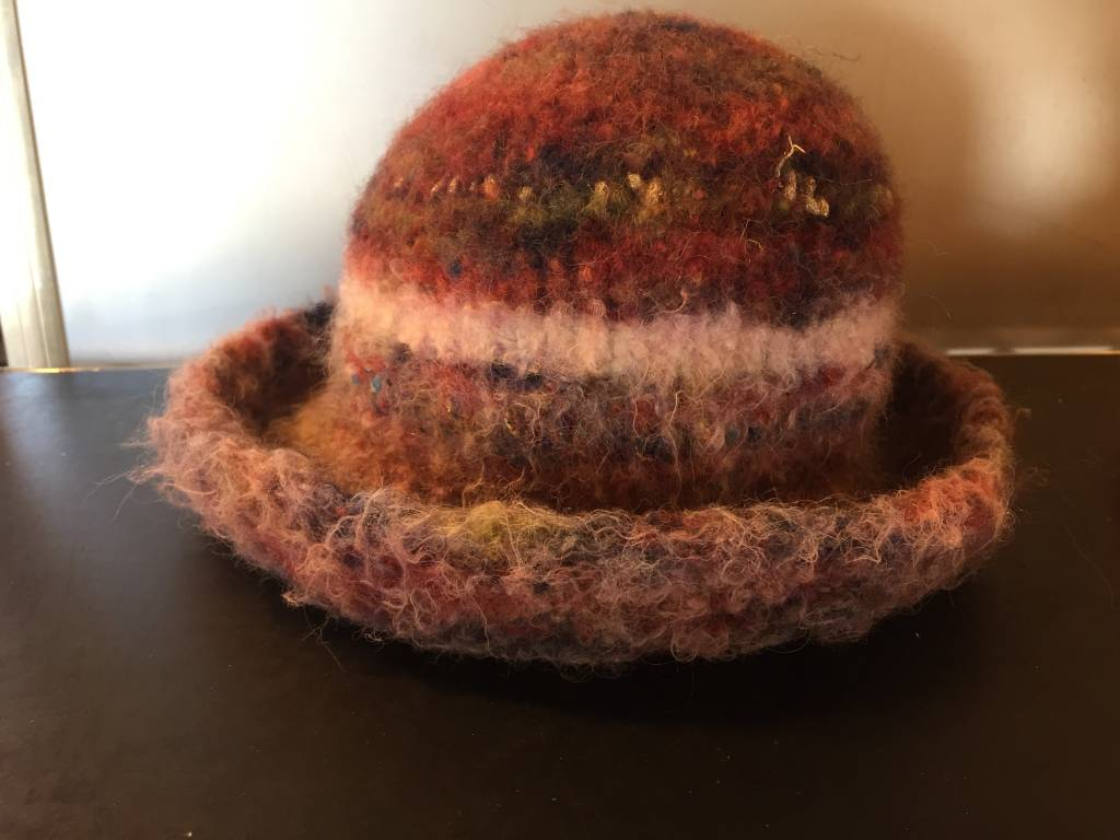 Hand Knit & Felted Youth Hat