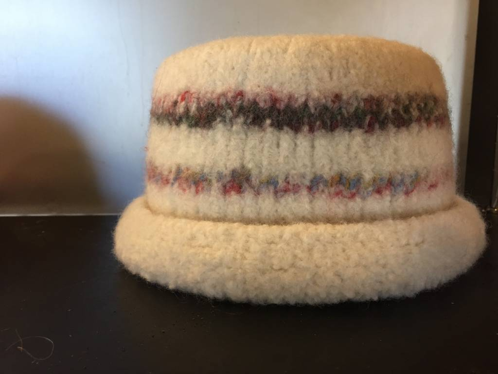 Handknit & Felted Hat