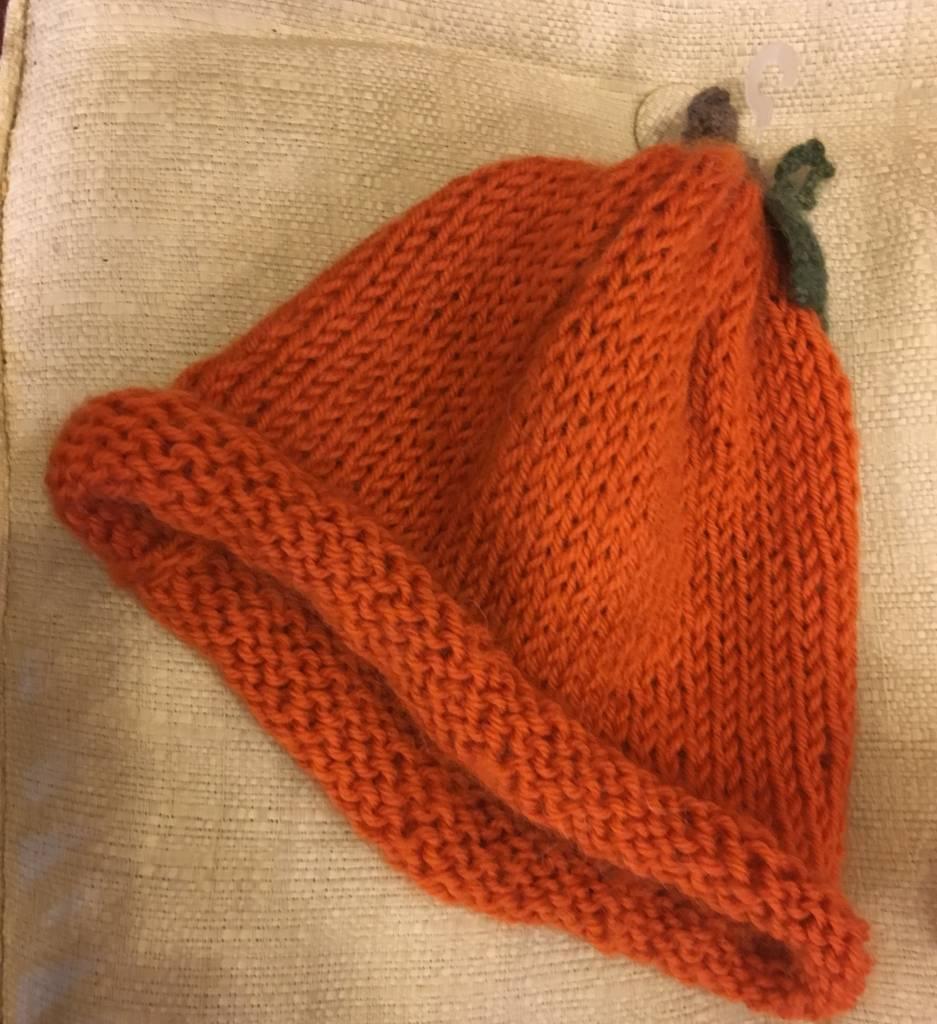 Orange Alpaca & Wool Child Hat RLH30
