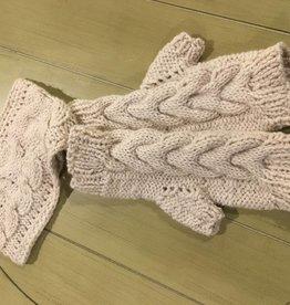 Simon Hand Knit Mitts & Headband Set