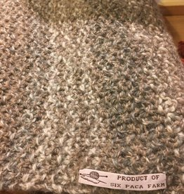 "Taupe Hand Crafted Scarf 80"" RLS83"