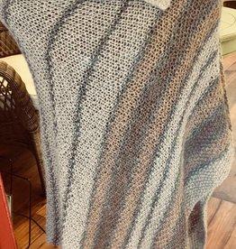 Taupe Llama Poncho Hand Knit RLP84