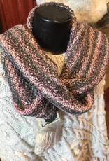 "Grey-Pink Hand Crafted 80"" Scarf RLS82"