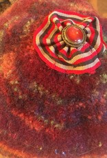 Hand Knit & Felted Beret Burgundy