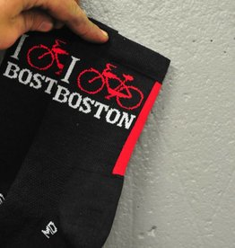 DeFeet Sock - I Bike Boston (Wool Defeet)