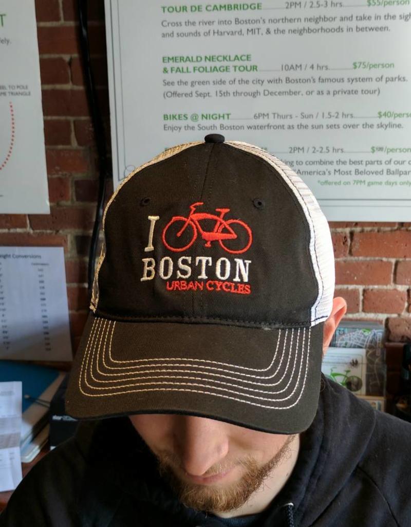 Hat - I Bike Boston Snapback Trucker