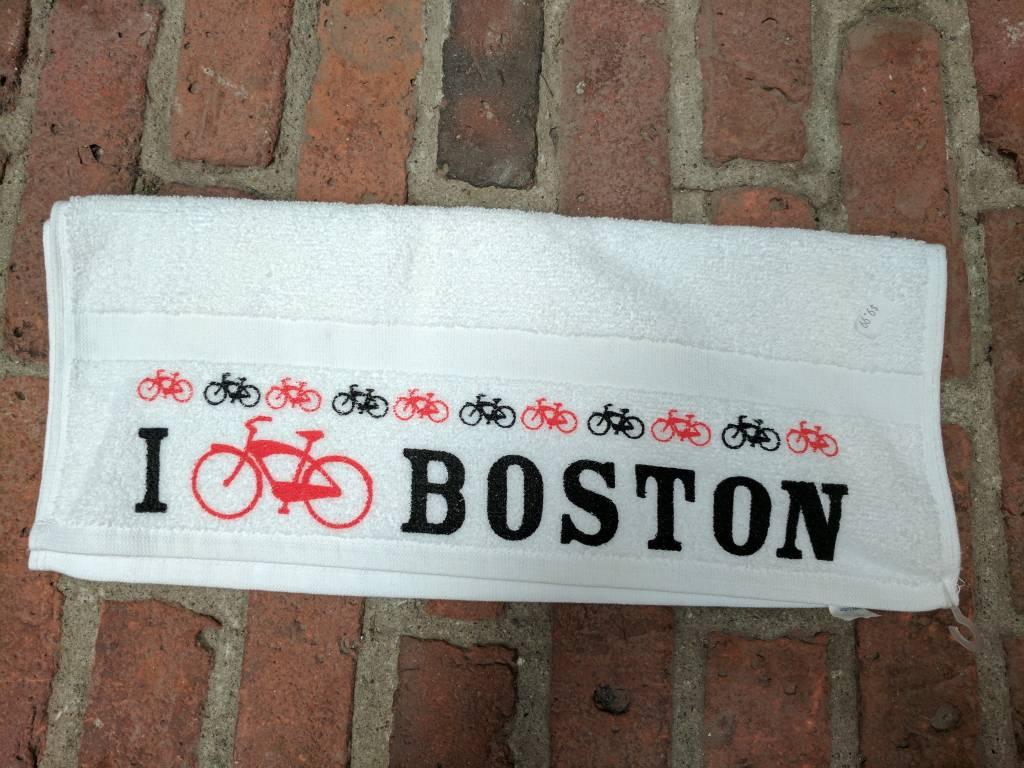 Towel - I bike Boston - UA spin towel