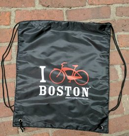 Bag - I Bike Boston drawstring backpack