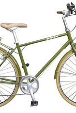 Biria Biria Citibike Bicycle Men's 8 Speed Olive Green 55cm