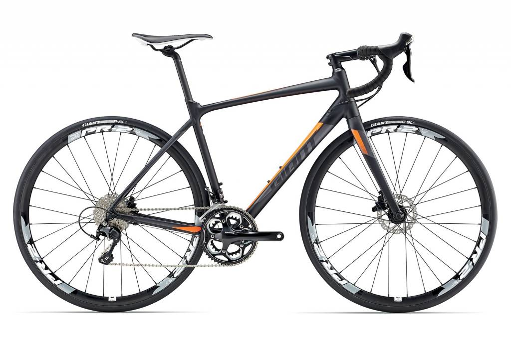 giant giant contend sl 1 disc s black  orange 2017 bicycle