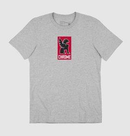 Chrome T-Shirt - Chrome New Lock Up Grey-S