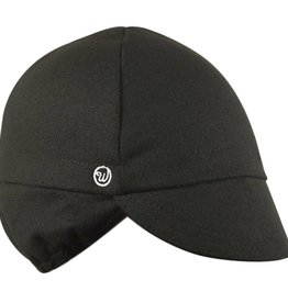 Walz Cap - Walz Wool Ear Flap Cycling Cap: Black~ SM/MD