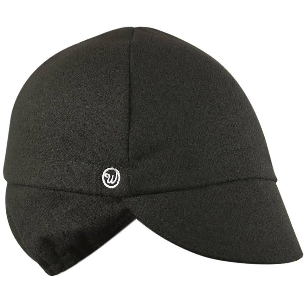 Walz Cap - Walz Wool Ear Flap Cycling Cap: Black~ SM/MD