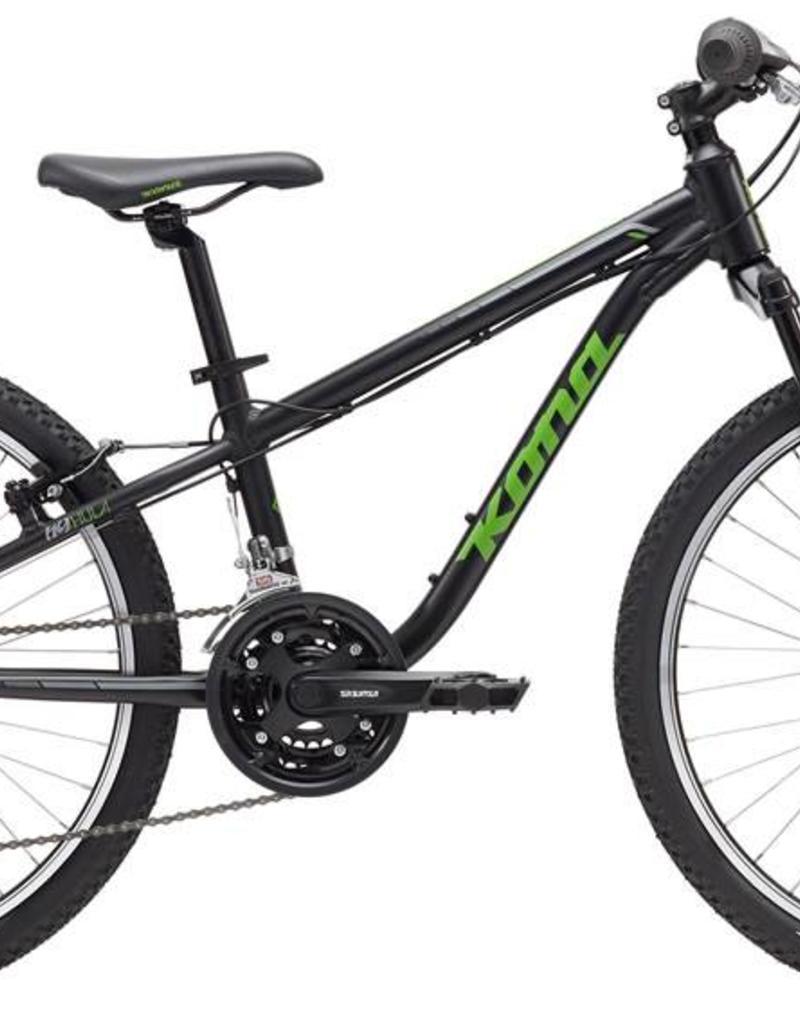 "KONA Kona Hula 2017 24"" Black/Green Bicycle"