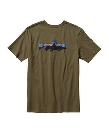 Patagonia Mens Fitz Roy Trout Cotton Tee