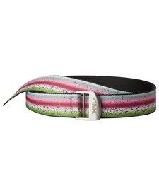 Mountain Khakis Trout Webbing Belt Rainbow Trout One Size