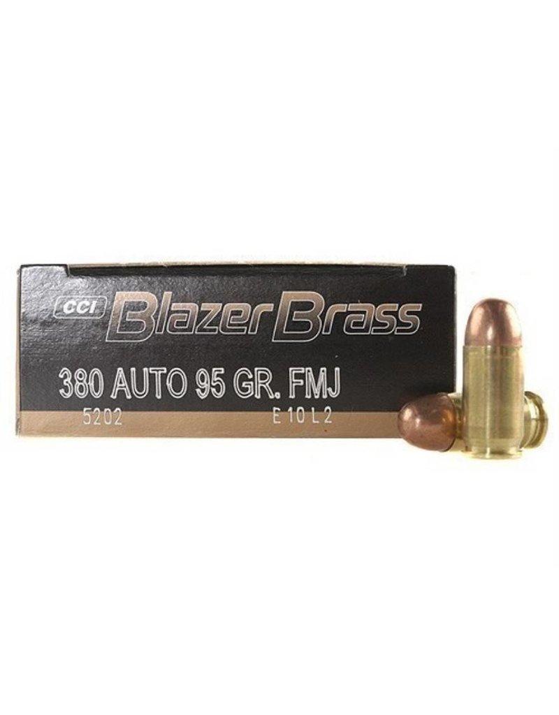 CCI Blazer Brass 380 Auto 95gr FMJ 50rd