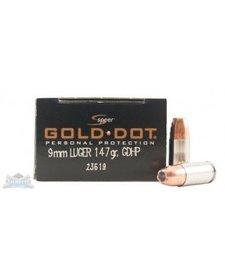 Speer Gold Dot 9mm Luger 147gr GDHP