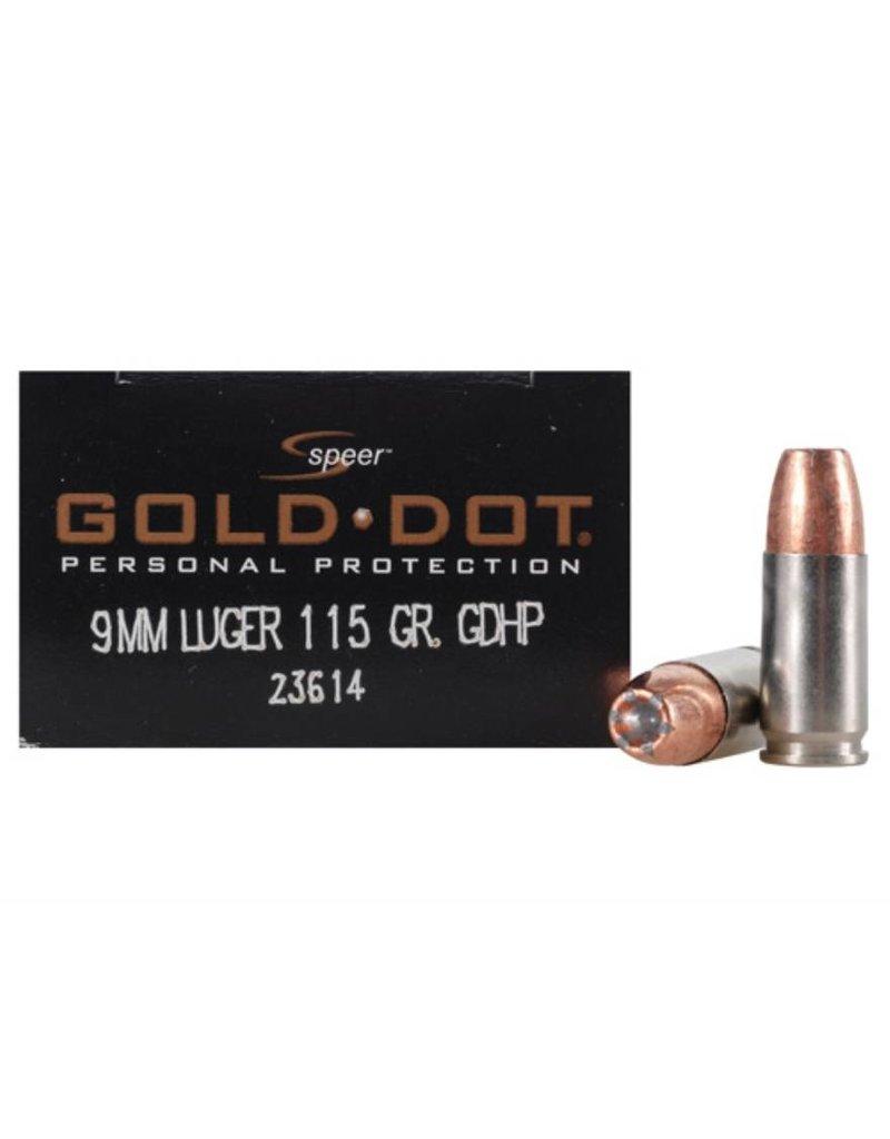 CCI Speer Gold Dot 9mm 115gr GDHP