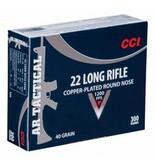 CCI CCI 22LR 40gr CPRN AR Tactical 300rd